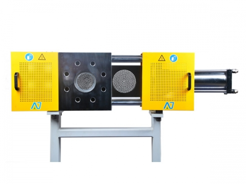 Single-plate hydraulic screen changer